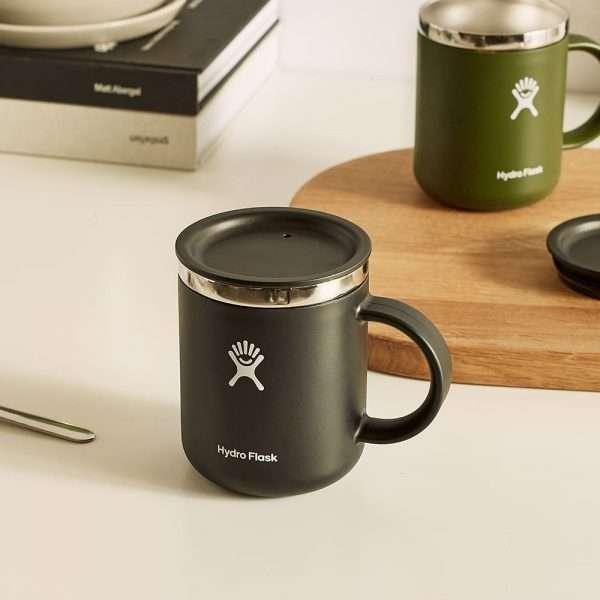 HYDRO FLASK 12 OZ COFFEE MUG BLACK