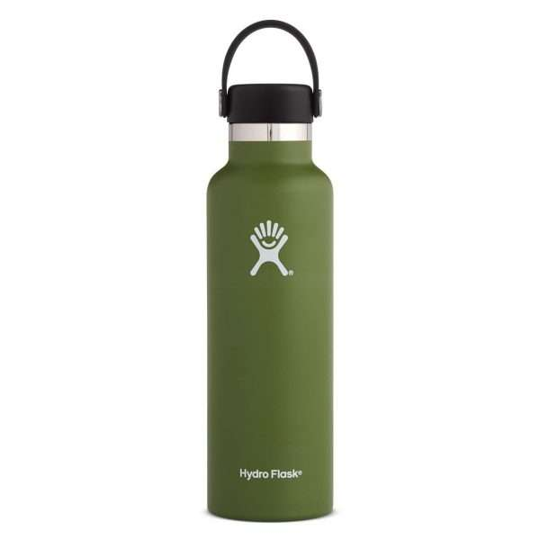 HYDRO FLASK STANDARD MOUTH 21 OZ OLIVE