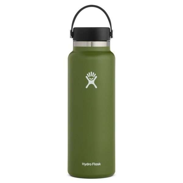 HYDRO FLASK 40 OZ WIDE MOUTH OLIVE