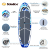 Solstice Maori GIANT Multi-Person Inflatable Stand Up Paddle Board iSUP 35180