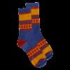 Mahoney's Merino Wool Crew Socks - BLUE SQUARE