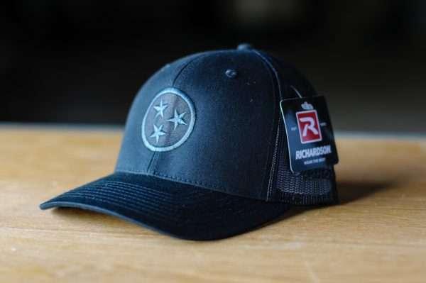 Mahoney's Tri-Star Trucker Hat - BLACK
