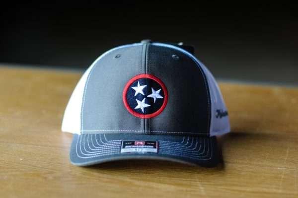 Mahoney's Tri-Star Low Pro Trucker Hat - Charcoal/White