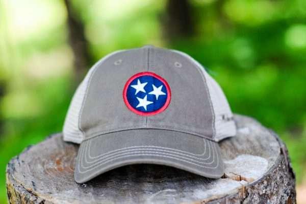 Mahoney's Tri-Star Trucker Hat - DRIFTWOOD KHAKI
