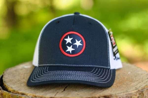 Mahoney's Tri-Star Trucker Hat - Navy/White