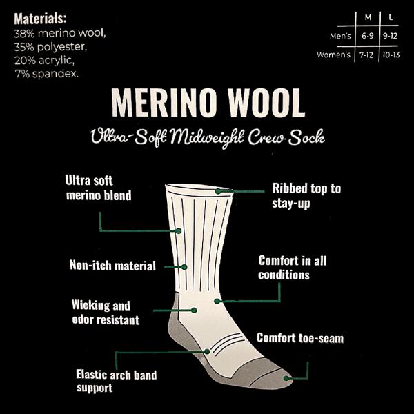 Mahoney's Merino Wool Crew Socks