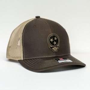Mahoney's Blackout Dead Skull Tri-Star Trucker Hat 112